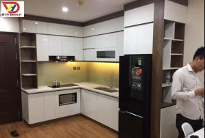 Tủ bếp Acrylic hiện đại gỗ MDF Chống ẩm An Cường TB07