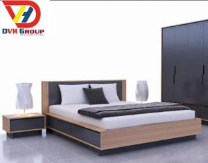 Mẫu thiết kế giường ngủ sang trọng hiện đại, màng phong  cách đơn giản