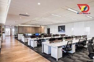 Thiết kế nội thất sảnh làm việc nhân viên