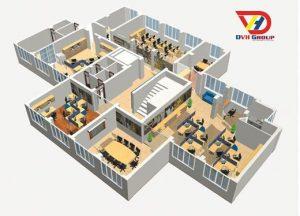 Nhận thiết kế văn phòng 2D 3D chuyên nghiệp giá rẻ