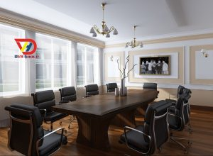 Thiết kế nội thất phòng họp cho 20 người