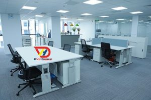 Thiết kế văn phòng, cung cấp bàn ghệ hiện đại, hệ điều chỉh