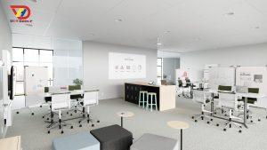 Thiết kế văn phòng với diện tích nhỏ, tạo cho không gian hợp lí