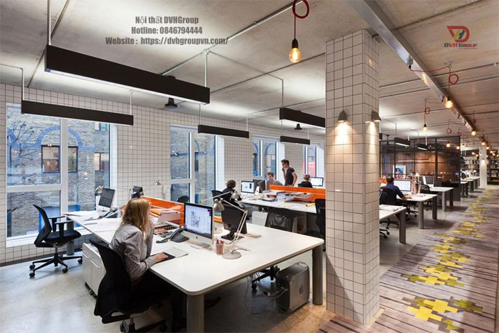 Công ty thiết kế nội thất văn phòng tại quận Tân Phú - Nội thất DVHGroup