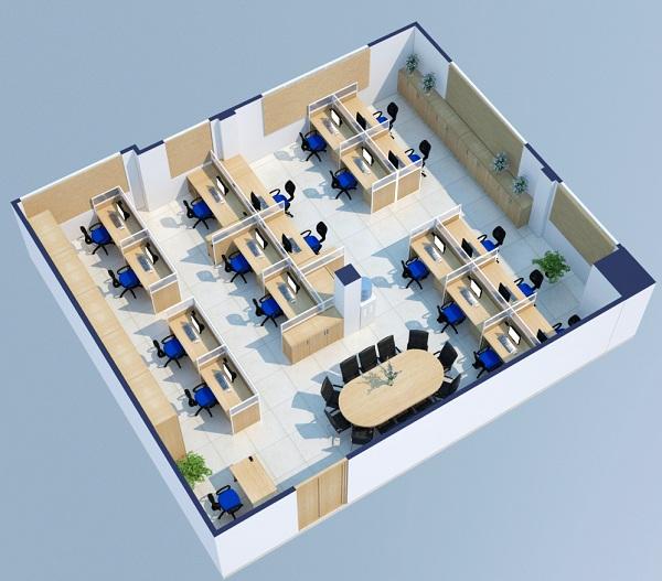 Thiết kế văn phòng 3D