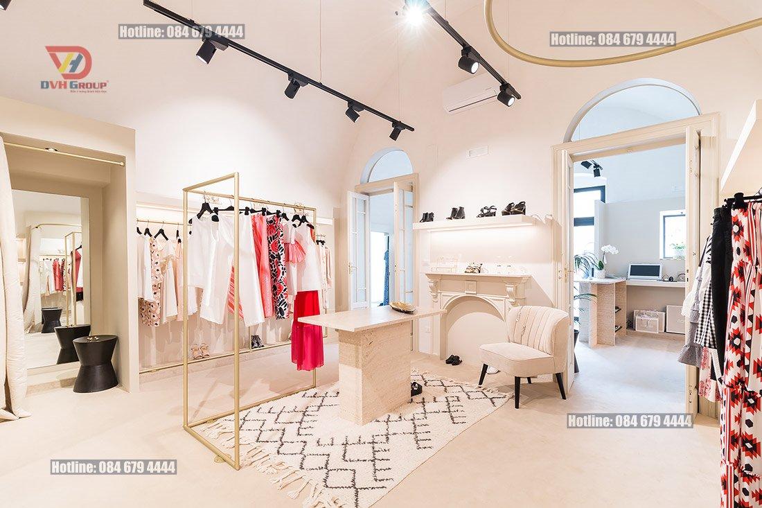 Thiết kế nội thất showroom cửa hàng tại quận 9