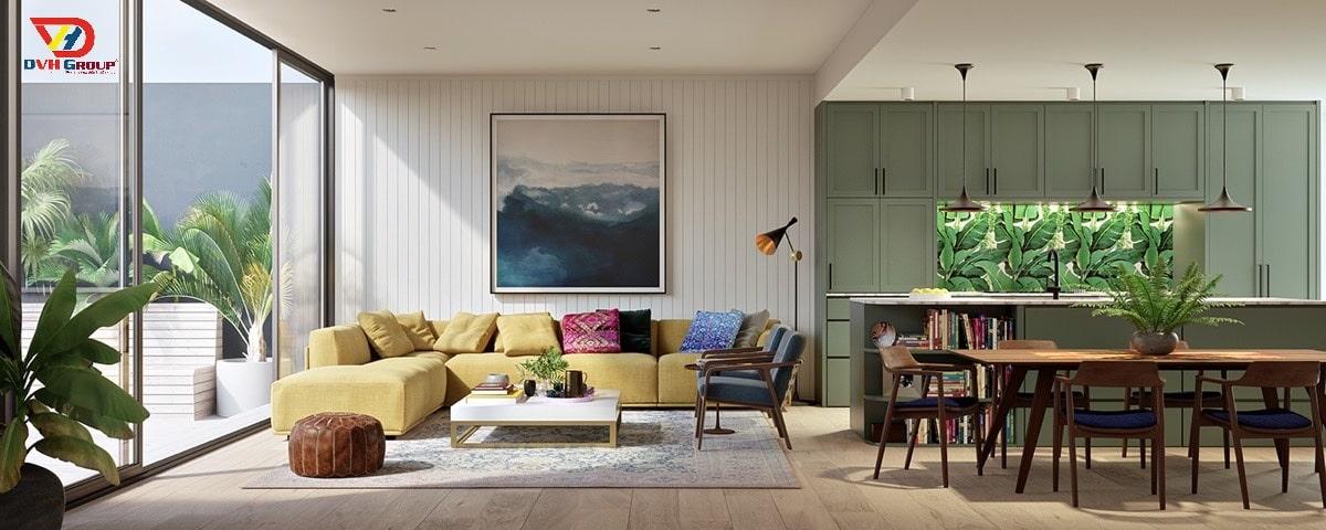 Thủy tinh: vật liệu yêu thích khi thiết kế nội thất hiện đại