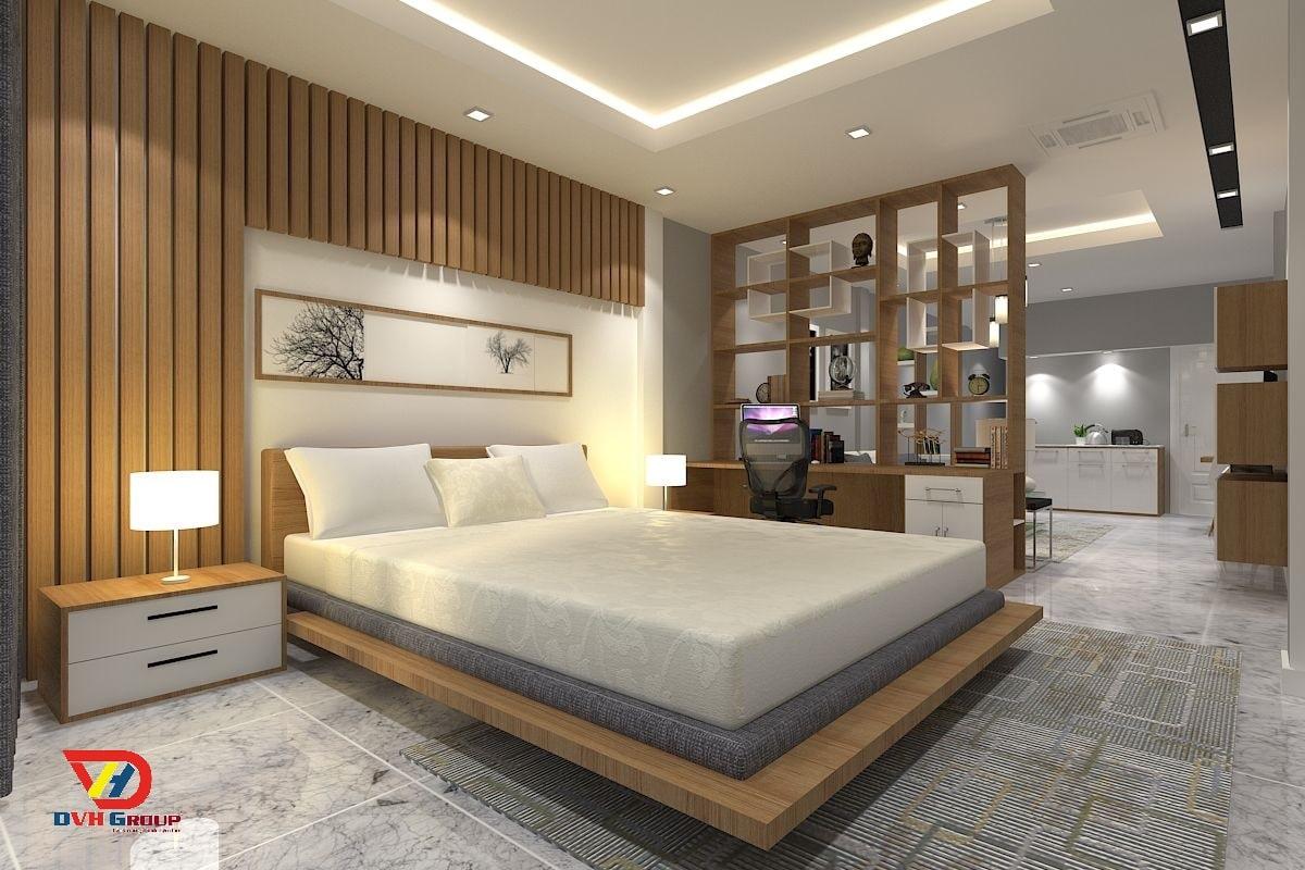 Thiết kế nội thất phòng ngủ cho căn hộ chung cư sang tại quận 9