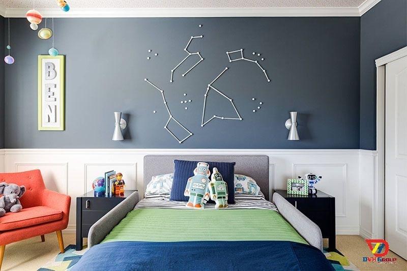 Thiết kế nội thất căn hộ chung cư tại quận 11 - Phòng cho con trai