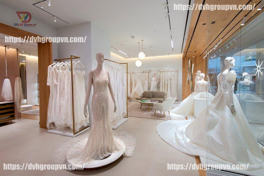 Thiết kế nội thất showroom áo cưới tại Toronto Canada