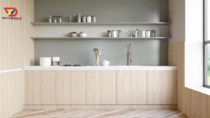 Phòng bếp gọn gàng ngăn nắp thanh lịch