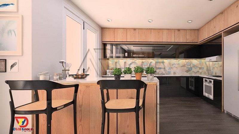 Thiết kế nội thất căn hộ chung cư tại Thủ Dầu Một-Gỗ
