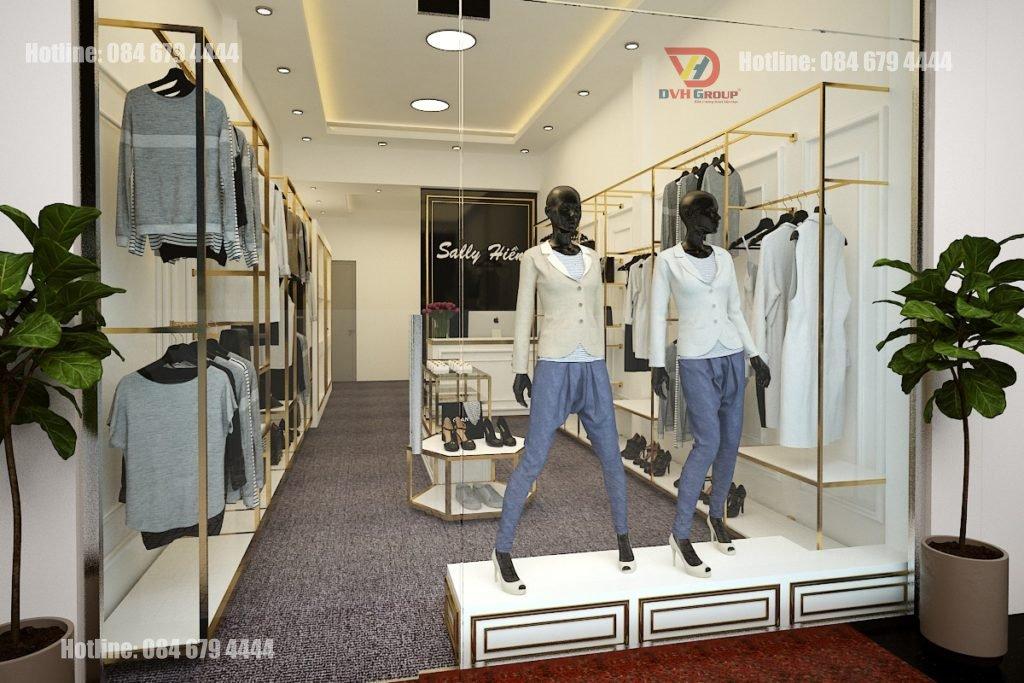 Thiết kế nội thất showroom cửa hàng tại quận 6