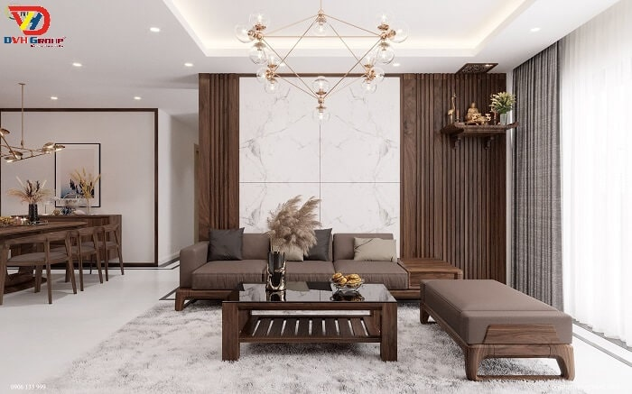 Vật liệu cần thiết khi thiết kế nội thất căn hộ chung cư cao cấp tại Nhơn Trạch