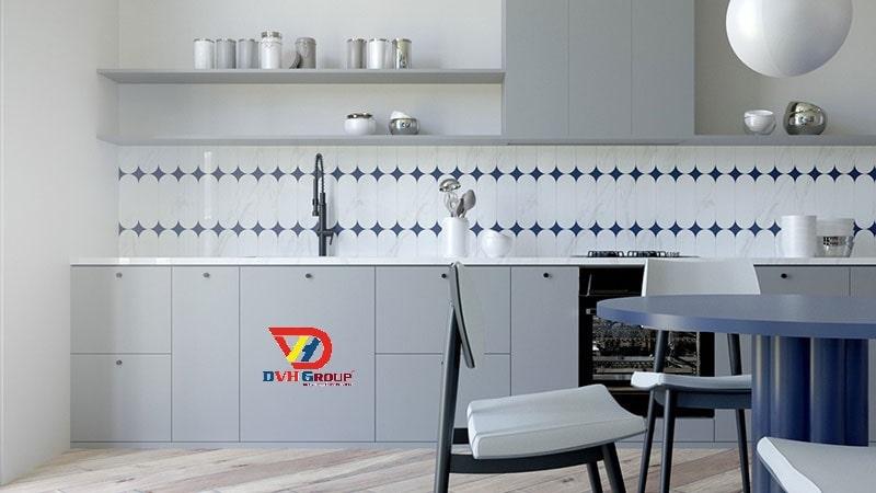 Phòng bếp với thiết kế gọn gàng