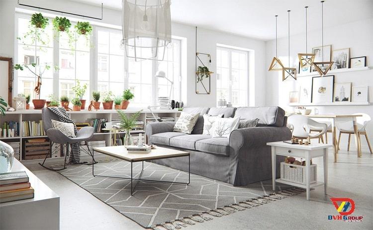 Phong cách thiết kế nội thất chung cư cao cấp-Bắc Âu