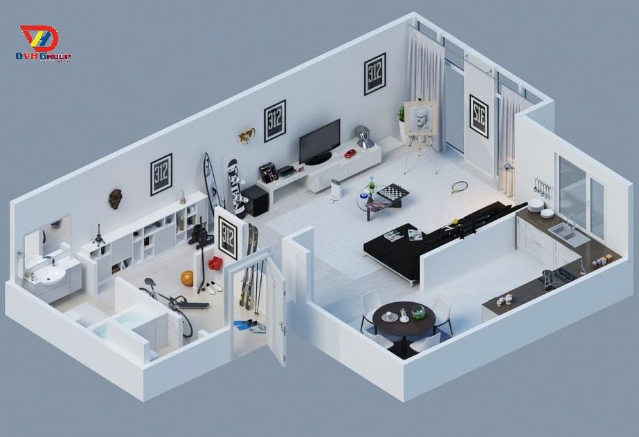 Thiết kế mặt bằng 2D, lựa chọn vật liệu thiết kế