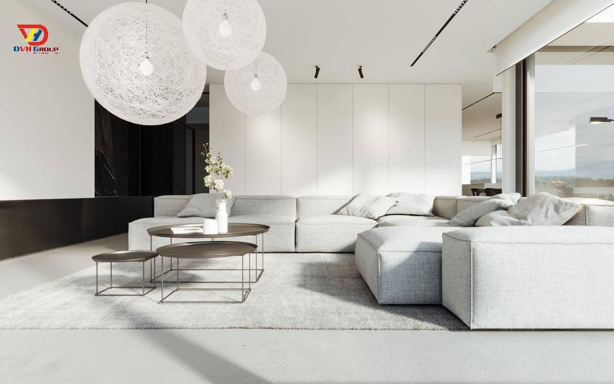 Thiết kế nội thất - Phòng khách đơn giản chuyên nghiệp