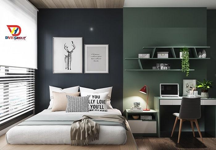 Thiết kế nội thất căn hộ chung cư tại quận Tân Phú - Phòng ngủ