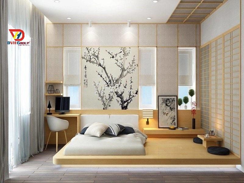 Thiết kế nội thất phòng ngủ tone ấm áp