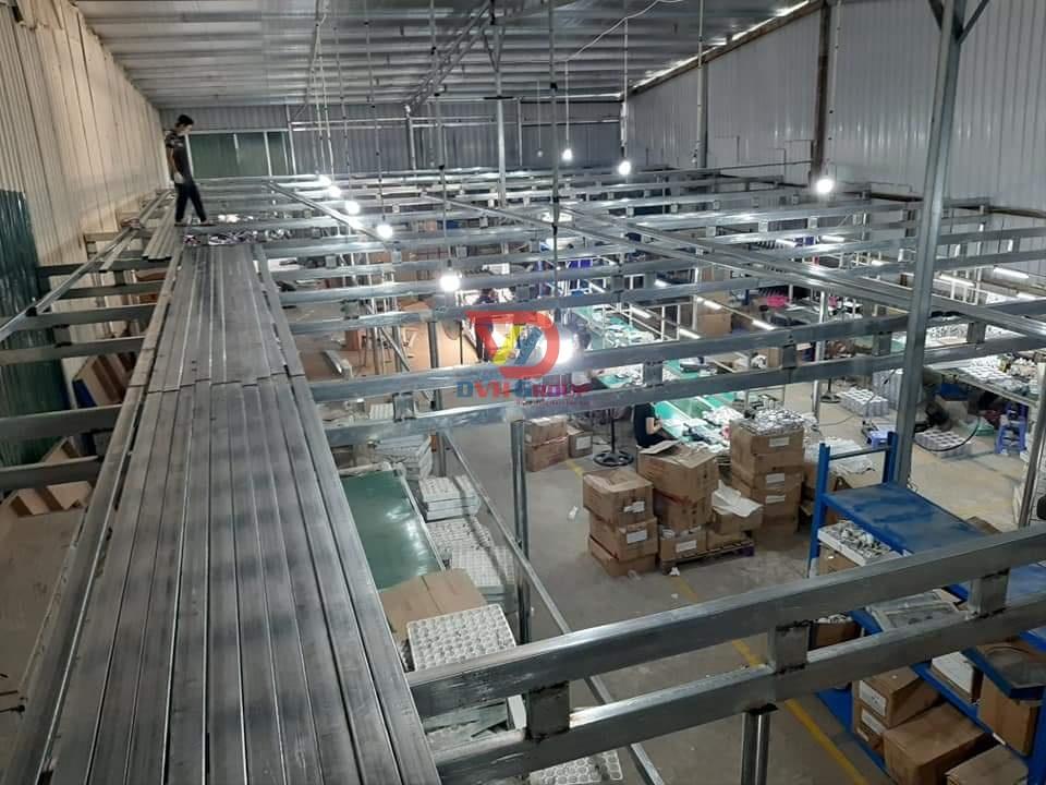 Làm gác cho nhà máy để tối ưu thêm không gian