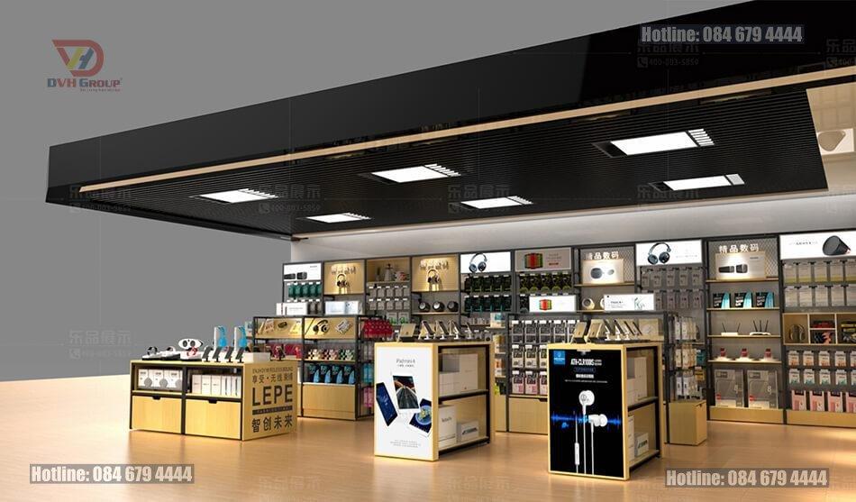 Thiết kế nội thất showroom cửa hàng điện thoại tại quận 12