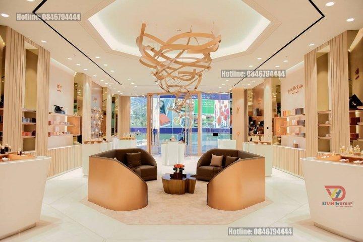 Thiết kế nội thất showroom cửa hàng nước hoa tại TP Thủ Dầu Một