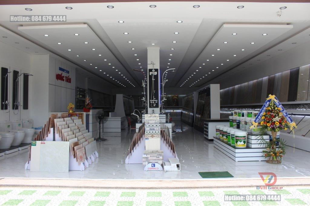 Thiết kế khu trưng bày sản phẩm trong showroom vật liệu xây dựng