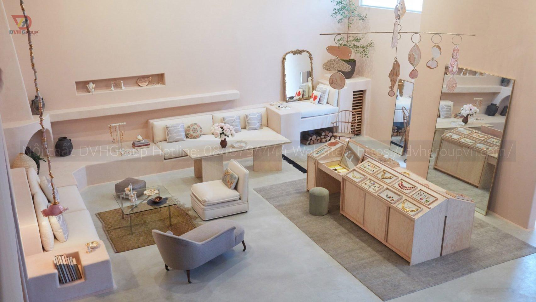 Thiết kế nội thất showroom cửa hàng trang sức - Nội thất DVHGroup