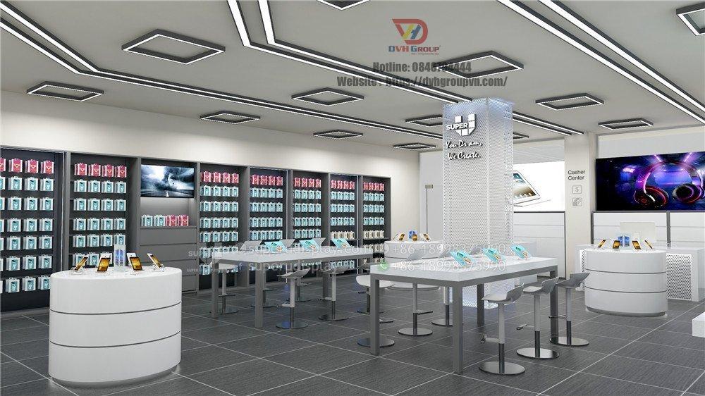 Thiết kế nội thất Showroom cửa hàng điện thoại