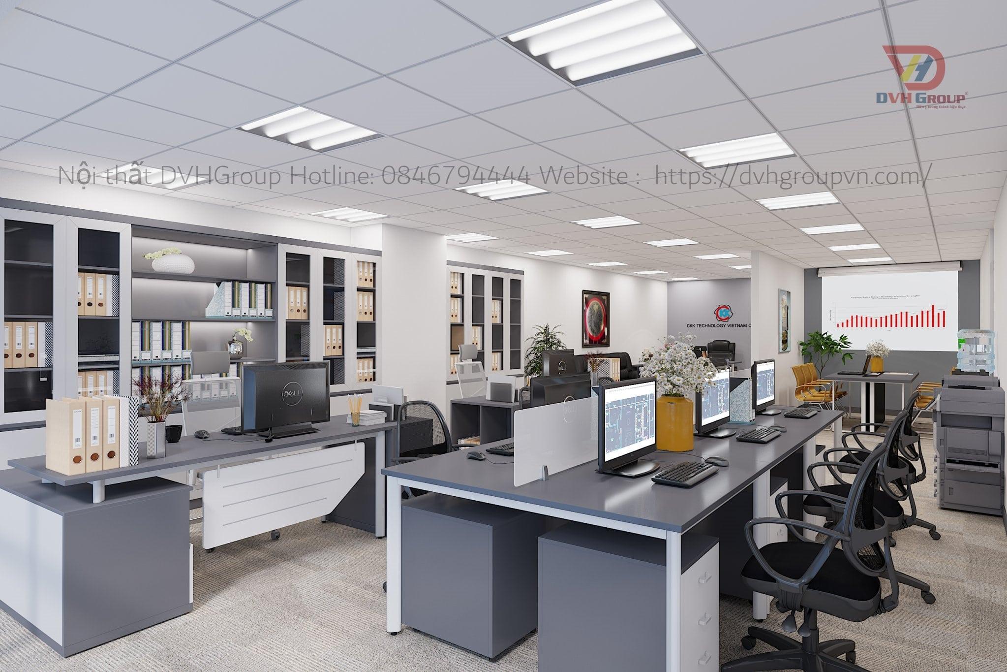 Thiết kế nội thất văn phòng - Phòng làm việc chung
