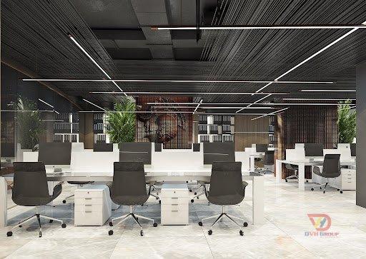 Thi công thiết kế nội thất văn phòng - Khu làm việc chung