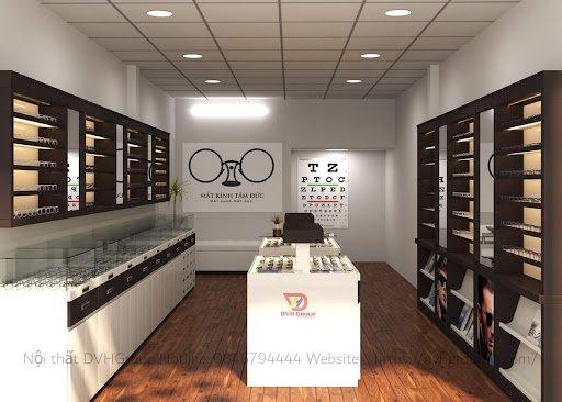 Thiết kế nội thất showroom cửa hàng mắt kính