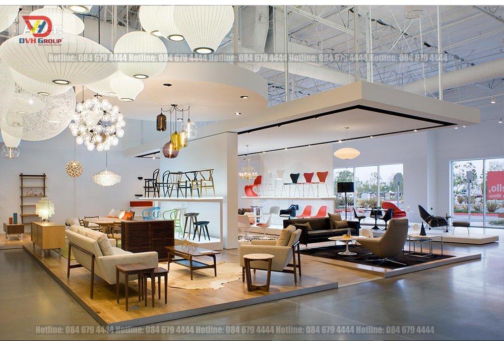 Thiết kế nội thất showroom cửa hàng tại quận Tân Bình