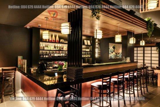 Xu hướng thiết kế nội thất showroom nhà hàng tại quận 11 kiểu Nhật