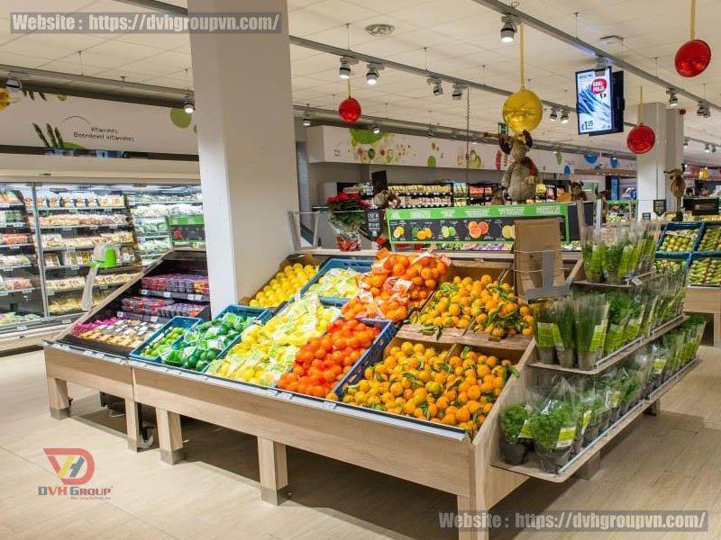 Mẫu thiết kế nội thất showroom cửa hàng hoa quả sạch ở Tân Phú – TP HCM