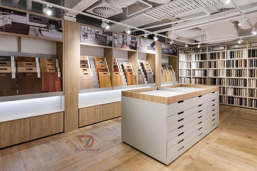 Thiết kế nội thất showroom cửa hàng tại TP HCM