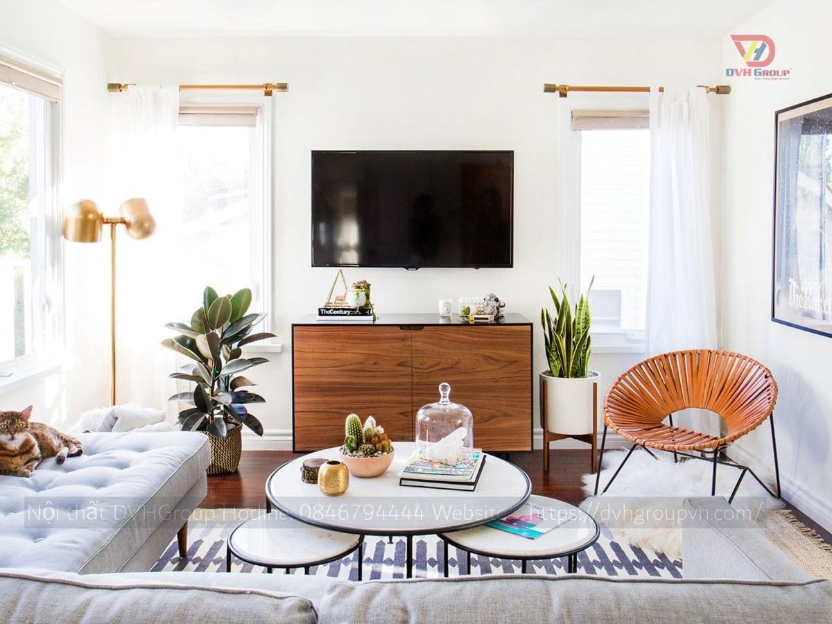 Thiết kế nội thất căn hộ chung cư - Phòng khách
