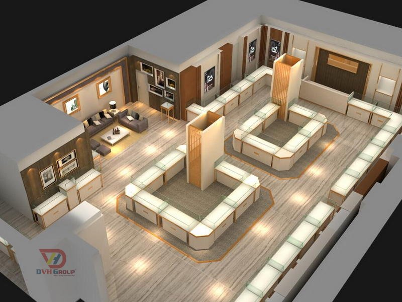 Thiết kế nội thất showroom cửa hàng nổi bật
