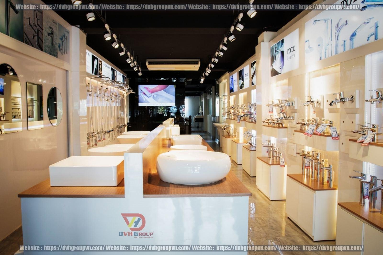 Yêu cầu về trưng bày sản phẩm khi thiết kế nội thất showroom cửa hàng thiết bị vệ sinh