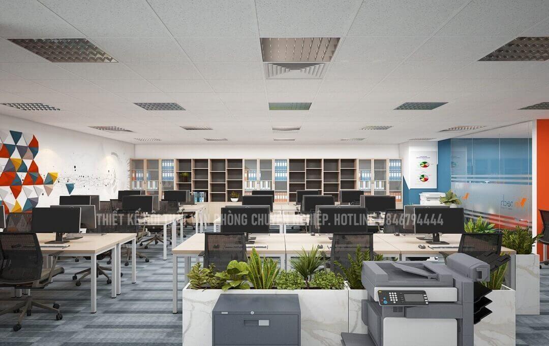 Thiết kế văn phòng theo nhiều bố cục khác nhau