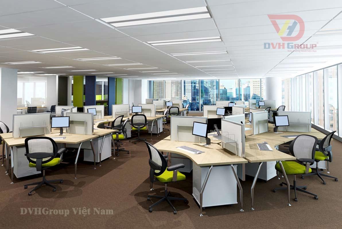 Thiết kế khu làm việc dành cho nhân viên